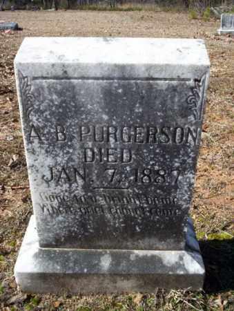 PURGERSON, A  B - Nevada County, Arkansas | A  B PURGERSON - Arkansas Gravestone Photos
