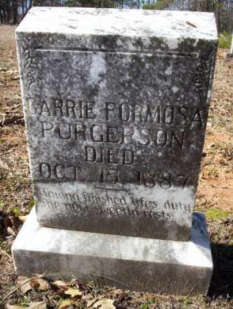 PURGERSON, CARRIE FORMOSA - Nevada County, Arkansas | CARRIE FORMOSA PURGERSON - Arkansas Gravestone Photos