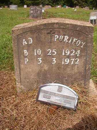PURIFOY, A D - Nevada County, Arkansas | A D PURIFOY - Arkansas Gravestone Photos
