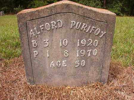 PURIFOY, ALFORD - Nevada County, Arkansas | ALFORD PURIFOY - Arkansas Gravestone Photos