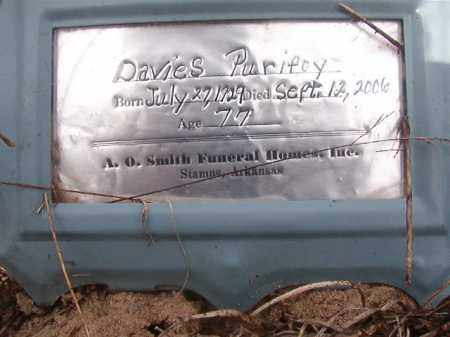 PURIFOY, DAVIES - Nevada County, Arkansas | DAVIES PURIFOY - Arkansas Gravestone Photos