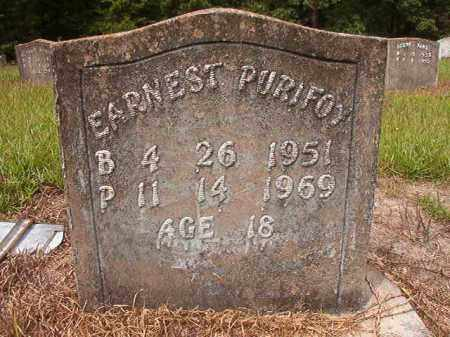 PURIFOY, EARNEST - Nevada County, Arkansas | EARNEST PURIFOY - Arkansas Gravestone Photos
