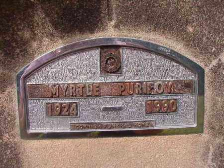 PURIFOY, MYRTLE - Nevada County, Arkansas | MYRTLE PURIFOY - Arkansas Gravestone Photos