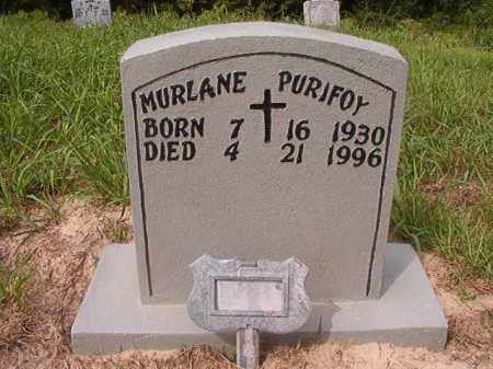PURIFOY, MURLANE - Nevada County, Arkansas | MURLANE PURIFOY - Arkansas Gravestone Photos