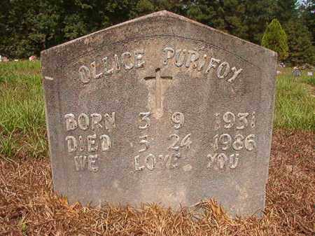 PURIFOY, OLLICE - Nevada County, Arkansas | OLLICE PURIFOY - Arkansas Gravestone Photos
