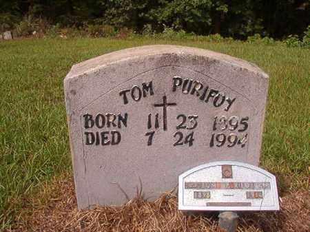 PURIFOY, TOM - Nevada County, Arkansas | TOM PURIFOY - Arkansas Gravestone Photos