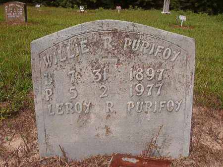 PURIFOY, WILLIE R - Nevada County, Arkansas | WILLIE R PURIFOY - Arkansas Gravestone Photos