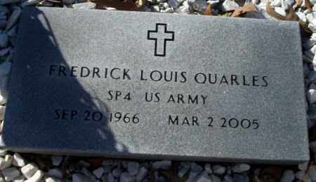 QUARLES  (VETERAN), FREDRICK LOUIS - Nevada County, Arkansas | FREDRICK LOUIS QUARLES  (VETERAN) - Arkansas Gravestone Photos