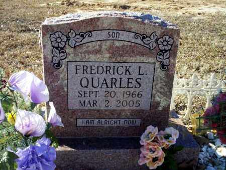 QUARLES, FREDRICK L. - Nevada County, Arkansas | FREDRICK L. QUARLES - Arkansas Gravestone Photos