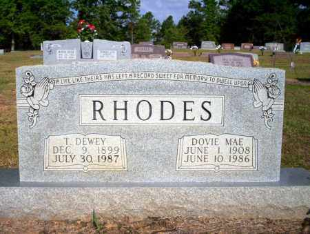 RHODES, T DEWEY - Nevada County, Arkansas | T DEWEY RHODES - Arkansas Gravestone Photos