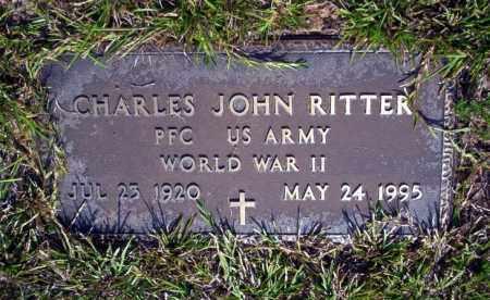 RITTER  (VETERAN WWII), CHARLES JOHN - Nevada County, Arkansas | CHARLES JOHN RITTER  (VETERAN WWII) - Arkansas Gravestone Photos