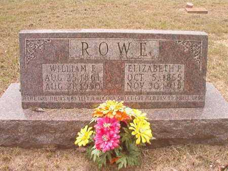 ROWE, WILLIAM E - Nevada County, Arkansas | WILLIAM E ROWE - Arkansas Gravestone Photos