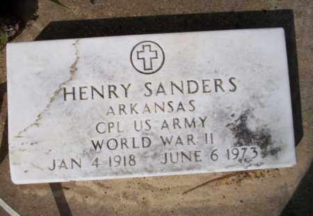 SANDERS  (VETERAN WWII), HENRY - Nevada County, Arkansas | HENRY SANDERS  (VETERAN WWII) - Arkansas Gravestone Photos