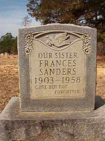 SANDERS, FRANCES - Nevada County, Arkansas | FRANCES SANDERS - Arkansas Gravestone Photos