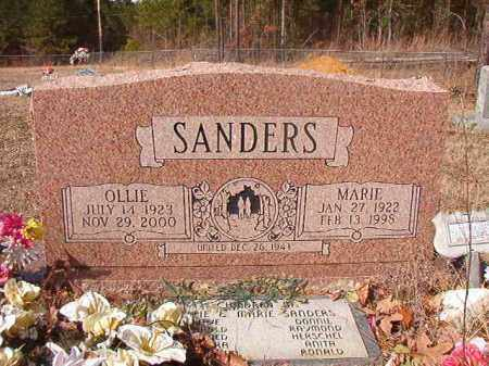 SANDERS, OLLIE - Nevada County, Arkansas | OLLIE SANDERS - Arkansas Gravestone Photos