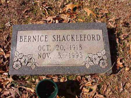 SHACKLEFORD, BERNICE - Nevada County, Arkansas | BERNICE SHACKLEFORD - Arkansas Gravestone Photos