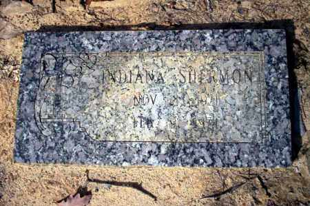SHERMON, INDIANA - Nevada County, Arkansas | INDIANA SHERMON - Arkansas Gravestone Photos
