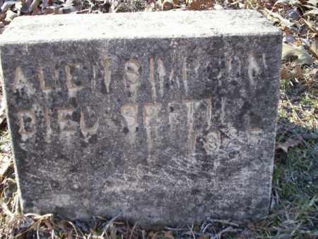 SIMPSON, ALLEN - Nevada County, Arkansas | ALLEN SIMPSON - Arkansas Gravestone Photos