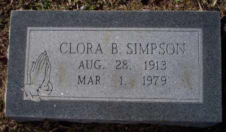 SIMPSON, CLORA B. - Nevada County, Arkansas | CLORA B. SIMPSON - Arkansas Gravestone Photos