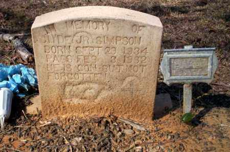 SIMPSON JR, CLYDE - Nevada County, Arkansas | CLYDE SIMPSON JR - Arkansas Gravestone Photos