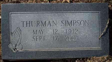 SIMPSON, THURMAN - Nevada County, Arkansas | THURMAN SIMPSON - Arkansas Gravestone Photos