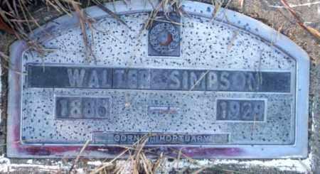 SIMPSON, WALTER - Nevada County, Arkansas | WALTER SIMPSON - Arkansas Gravestone Photos