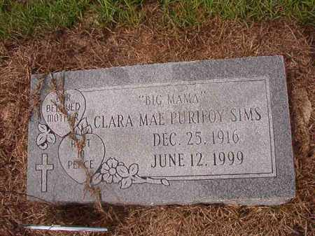 PURIFOY SIMS, CLARA MAE - Nevada County, Arkansas | CLARA MAE PURIFOY SIMS - Arkansas Gravestone Photos