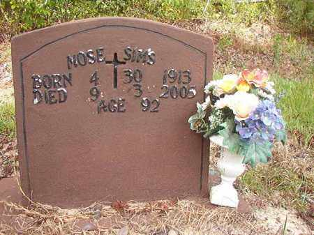 SIMS, MOSE - Nevada County, Arkansas | MOSE SIMS - Arkansas Gravestone Photos