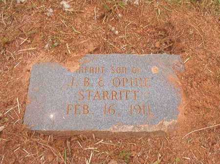 STARRITT, INFANT SON - Nevada County, Arkansas | INFANT SON STARRITT - Arkansas Gravestone Photos