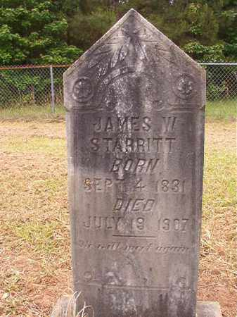 STARRITT, JAMES W - Nevada County, Arkansas | JAMES W STARRITT - Arkansas Gravestone Photos