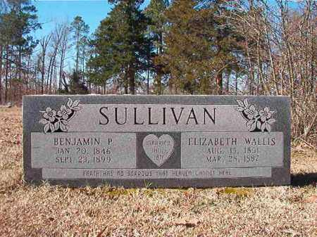 SULLIVAN, BENJAMIN P - Nevada County, Arkansas | BENJAMIN P SULLIVAN - Arkansas Gravestone Photos