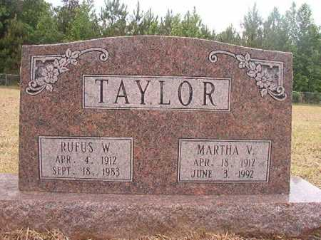 TAYLOR, RUFUS W - Nevada County, Arkansas | RUFUS W TAYLOR - Arkansas Gravestone Photos
