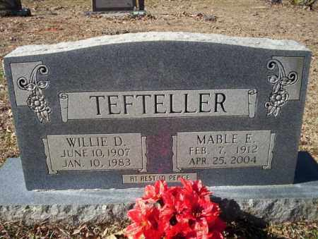 TEFTELLER, WILLIE D. - Nevada County, Arkansas | WILLIE D. TEFTELLER - Arkansas Gravestone Photos