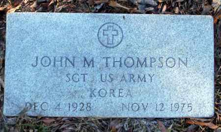 THOMPSON  (VETERAN KOR), JOHN M - Nevada County, Arkansas | JOHN M THOMPSON  (VETERAN KOR) - Arkansas Gravestone Photos