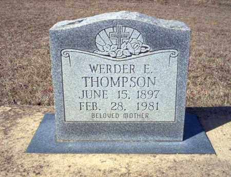 THOMPSON, WERDER E - Nevada County, Arkansas | WERDER E THOMPSON - Arkansas Gravestone Photos