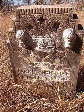 THORNTORE, FANNIE - Nevada County, Arkansas | FANNIE THORNTORE - Arkansas Gravestone Photos
