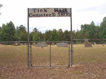 *TICK HILL, CEMETERY - Nevada County, Arkansas | CEMETERY *TICK HILL - Arkansas Gravestone Photos