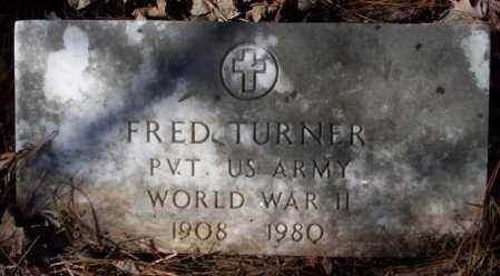 TURNER  (VETERAN WWII), FRED - Nevada County, Arkansas | FRED TURNER  (VETERAN WWII) - Arkansas Gravestone Photos