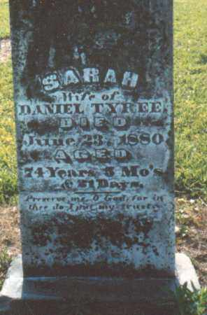 BURNHAM TYREE, SARAH - Nevada County, Arkansas | SARAH BURNHAM TYREE - Arkansas Gravestone Photos