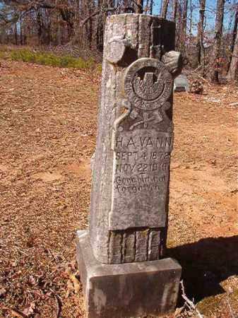 VANN, H A - Nevada County, Arkansas | H A VANN - Arkansas Gravestone Photos