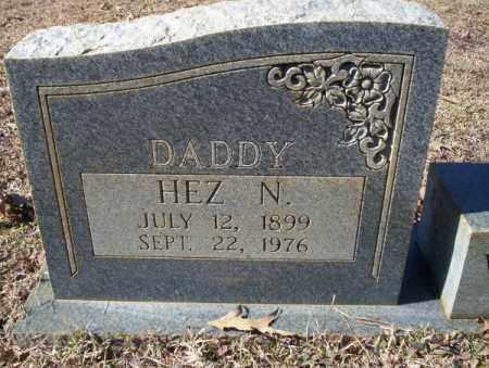 WALKER, HEZ N.  CLOSE UP - Nevada County, Arkansas | HEZ N.  CLOSE UP WALKER - Arkansas Gravestone Photos