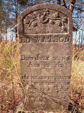 WATSON, ED - Nevada County, Arkansas | ED WATSON - Arkansas Gravestone Photos