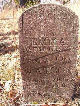 WATSON, EMMA - Nevada County, Arkansas | EMMA WATSON - Arkansas Gravestone Photos