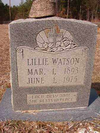 WATSON, LILLIE - Nevada County, Arkansas | LILLIE WATSON - Arkansas Gravestone Photos