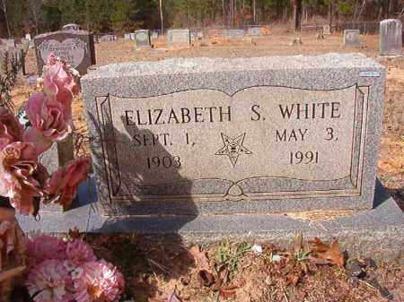 WHITE, ELIZABETH S - Nevada County, Arkansas | ELIZABETH S WHITE - Arkansas Gravestone Photos
