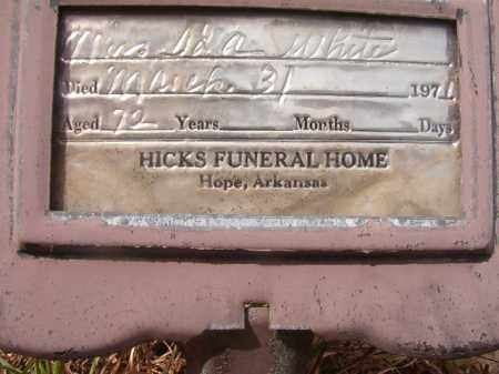 WHITE, MRS. IDA - Nevada County, Arkansas | MRS. IDA WHITE - Arkansas Gravestone Photos