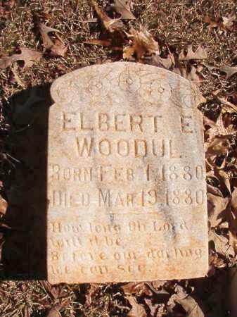 WOODUL, ELBERT E - Nevada County, Arkansas | ELBERT E WOODUL - Arkansas Gravestone Photos