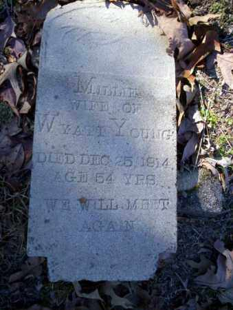 YOUNG, MILLIE - Nevada County, Arkansas | MILLIE YOUNG - Arkansas Gravestone Photos