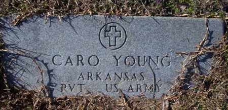 YOUNG (VETERAN), CARO - Nevada County, Arkansas | CARO YOUNG (VETERAN) - Arkansas Gravestone Photos