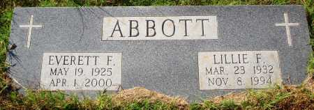 ABBOTT, EVERETT F. - Newton County, Arkansas | EVERETT F. ABBOTT - Arkansas Gravestone Photos